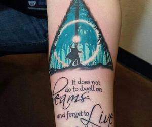 harry potter, ink, and tatoo image