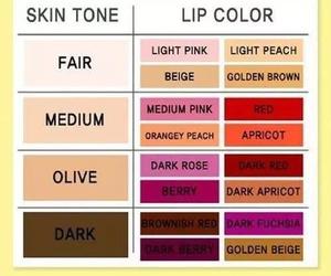 makeup, lips, and skin image