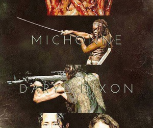 the walking dead, michonne, and glenn image
