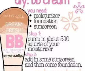 diy, bb cream, and makeup image