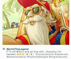 disney, merlin, and instagram image