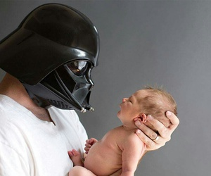 baby, darth vader, and star wars image