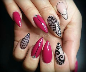 colour, model, and nails image