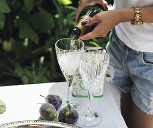champagne, drink, and summer image
