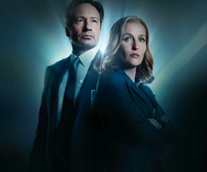 david duchovny, scully, and gillian anderson image