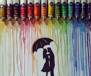 colorful, love is life, and love image