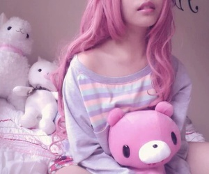pink, hair, and kawaii image