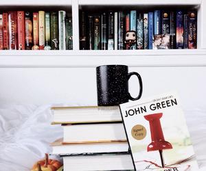 book, john green, and coffee image