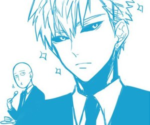 anime, one punch man, and handsome image