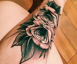 arm, arm tattoo, and flower tattoo image