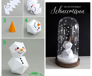 christmas, snowglobe, and diy image