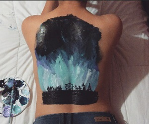 sky art and back painting image