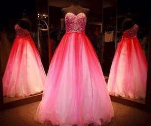 dress, pink, and perfect image