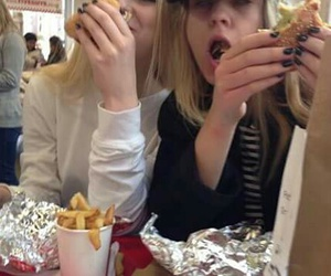 grunge, friends, and food image