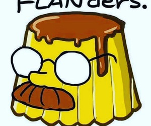simpsons, flanders, and flan image