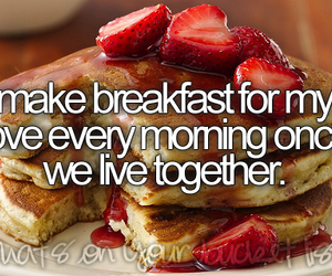 love, breakfast, and couple image