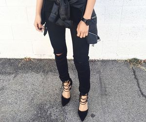 style, black, and leather image