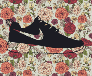 flowers, hipster, and nike image