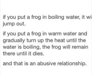 frog, abusive relationship, and love image