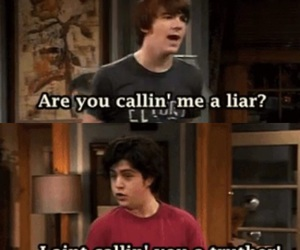funny, liar, and drake&josh image