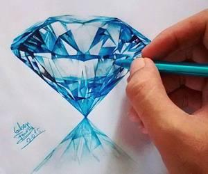art, diamond, and drawing image