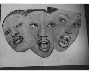 art, faces, and mypassion image
