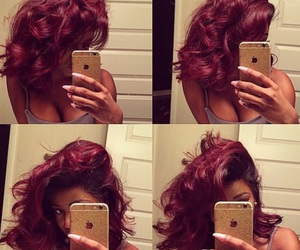 burgundy and hair image