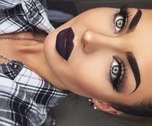 contour, eyelashes, and greeneyes image