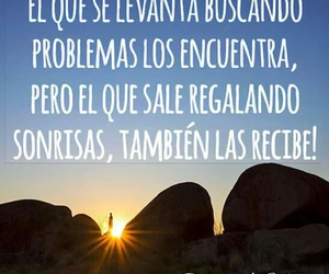 frases, sonrisa, and problemas image