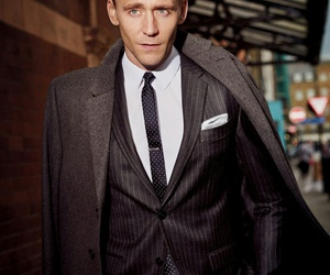 tom hiddleston, actor, and suit image