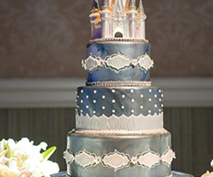 cake, castle, and cinderella image