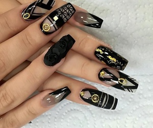 beauty, black is beautiful, and black nails image