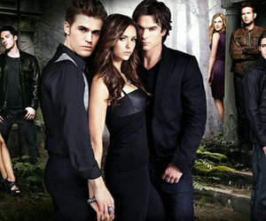 Nina Dobrev, Vampire Diaries, and paul wesley image