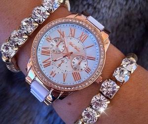 style, watch, and diamond image