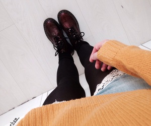 autumn, docs, and girl image