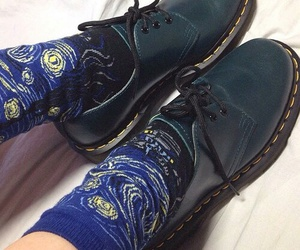 shoes, socks, and van gogh image