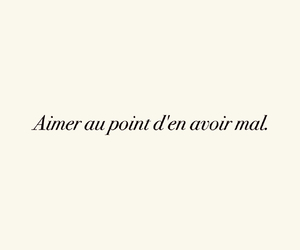 amour, citation, and quotes french image