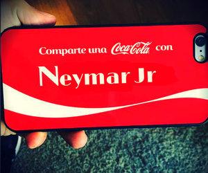 coca cola, iphone case, and neymar jr image