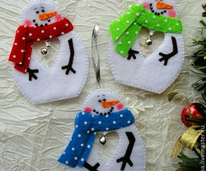 christmas, felt, and ornaments image