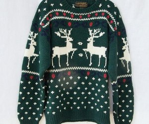 sweater, winter, and green image