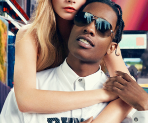 asap rocky, model, and cara delevingne image
