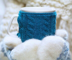 winter, cold, and cup image