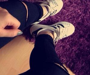 adidas, black, and blackandwhite image