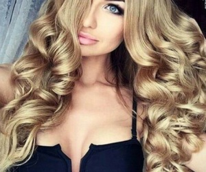 hair, blonde, and makeup image