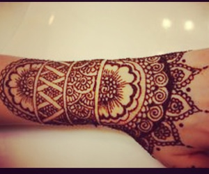 couple, henna, and quote image