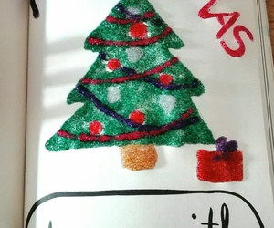 christmas, wreck this journal, and glitter image