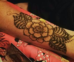 hand, henna, and rose image