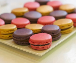 delicious, ‎macarons, and food image
