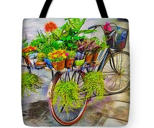 art, bicycle, and flower bike image