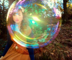 bubble, fashion, and flower image